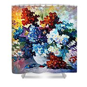 Springs Smile - Palette Knife Oil Painting On Canvas By Leonid Afremov Shower Curtain