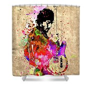 Springsteen Colored Grunge Shower Curtain