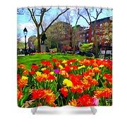 Springtime At Abingdon Square Park Shower Curtain
