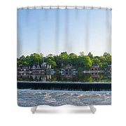 Springtime At Boathouse Row In Philadelphia Shower Curtain