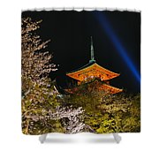 Springtime At Kiyomizu-dera Shower Curtain