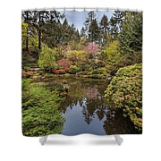 Springtime At Portland Japanese Garden Shower Curtain