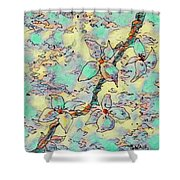 Springtime Blossoms Shower Curtain