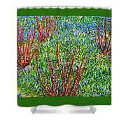 Springtime Impression Shower Curtain