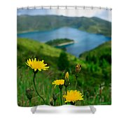 Springtime In Fogo Crater Shower Curtain