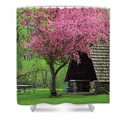 Springtime In The Park Shower Curtain by Lori Frisch