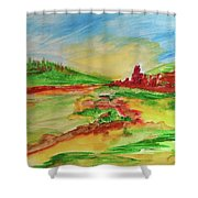 Springtime In The Valley Shower Curtain