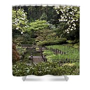 Springtime Walkway Shower Curtain