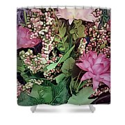 Springtime With Flowers Shower Curtain