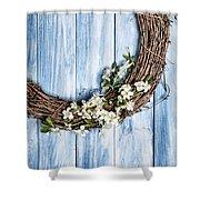 Springtime Wreath Shower Curtain