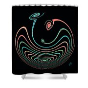 Springy Square Shower Curtain by Ben and Raisa Gertsberg