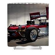Sprint Car Shower Curtain