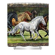 Spunky And The Gang Shower Curtain