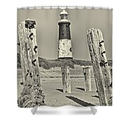 Spurn Lighthouse Shower Curtain