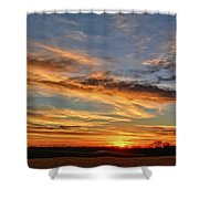 Spwinter Sunset Shower Curtain
