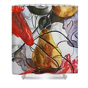 Spying On Fruit Shower Curtain