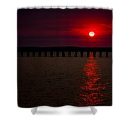 Squalicum Sunset Shower Curtain