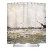 Squally Weather, Portsmouth Shower Curtain