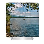 Squam Lake In New Hampshire   Shower Curtain