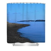 Squantum Shoreline Shower Curtain