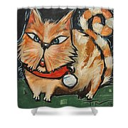 Square Cat Two Shower Curtain