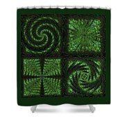 Square Crop Circles Quad Shower Curtain