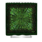 Square Crop Circles Three Shower Curtain
