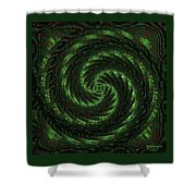 Square Crop Circles Two Shower Curtain