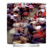 Square Dance Love Shower Curtain