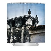 Square Dome Shower Curtain