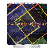 Square Fractals Shower Curtain