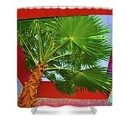 Square Palm Shower Curtain