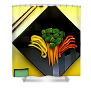 Square Plate Shower Curtain
