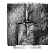 Square Point Shovel Down 3 Shower Curtain