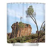 Square Rock Formation Shower Curtain