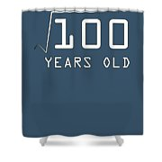Square Root Of 100 10 Years Old Birthday Shower Curtain