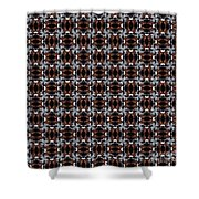 Square Rose Woven Pattern Shower Curtain