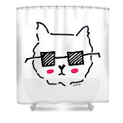 Square Shades Shower Curtain