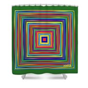 Square Shadings Shower Curtain