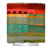 Square Stripes Shower Curtain