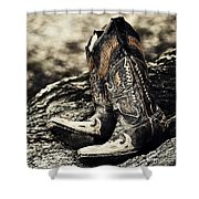 Square Toes Shower Curtain