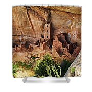 Square Tower Overlook - Alcove Dwellers Shower Curtain