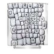 Square Wall Shower Curtain