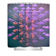 Squared2 Shower Curtain