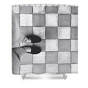 Squares And Feet Shower Curtain