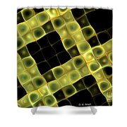 Squares In Abstract Shower Curtain