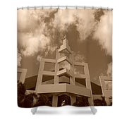 Squares In The Sky Shower Curtain