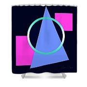 Squares Subsumed By Cirle Shower Curtain