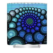 Squaring The Circle Shower Curtain