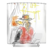 Squiggleism Shower Curtain